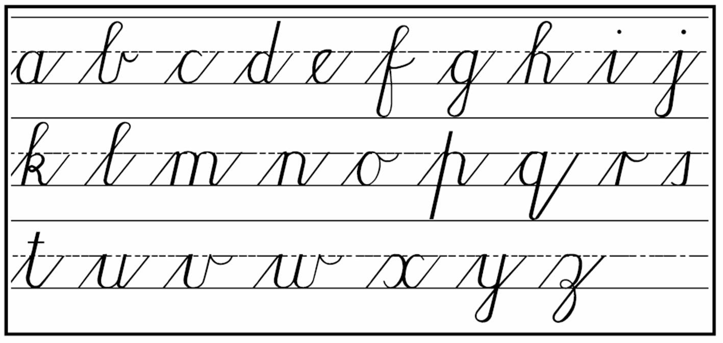 how to write in cursive for adults The penmanship of cursive writing is quickly becoming obsolete, thanks to the technological advances and conveniences of using computers to create documents.
